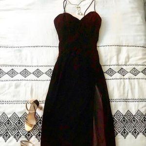 Red velvet prom dress- WORN ONCE